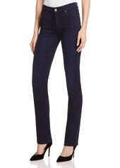 7 For All Mankind b(air) Kimmie Straight Jeans in Blue Black River Thames