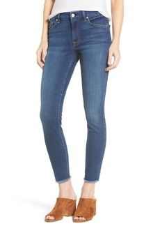 7 For All Mankind® b(air) Raw Hem Ankle Skinny Jeans (Reign)