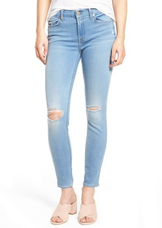 7 For All Mankind® b(air) Ripped Ankle Skinny Jeans (Bair Sunfaded 2)