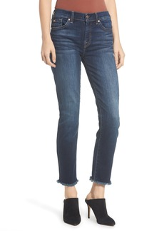 7 For All Mankind® b(air) Roxanne Frayed Ankle Slim Jeans (Authentic Fate)