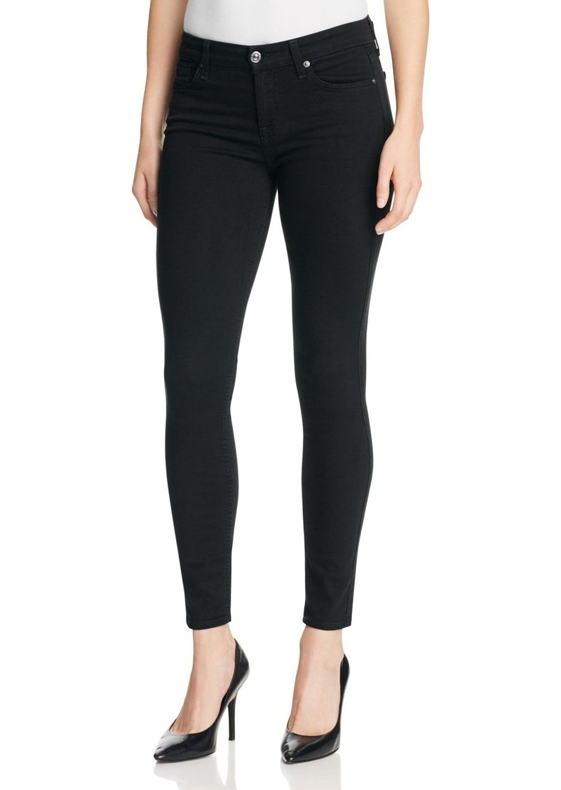 7 For All Mankind b(air) Skinny Ankle Jeans in Black