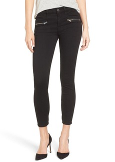 7 For All Mankind® b(air) Zip Ankle Skinny Jeans (Bair Black)