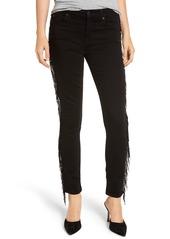 7 For All Mankind® Beaded Fringe Ankle Skinny Jeans