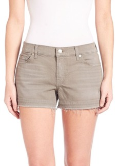 7 For All Mankind Fatigue Released Hem Shorts