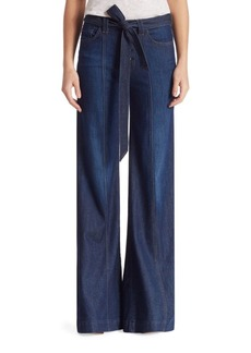 7 For All Mankind Belted Denim Palazzo Pants