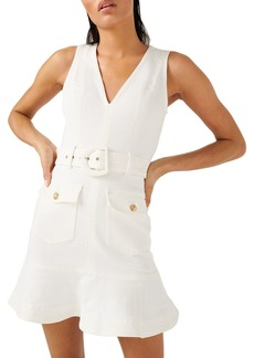 7 For All Mankind Belted Ruffled Dress