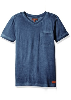 7 For All Mankind Big Boys' V-Neck Mineral Wash T-Shirt