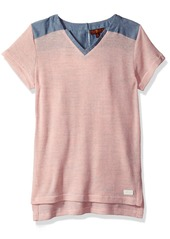 7 For All Mankind Girls' Big High Low Tunic Top  7/8