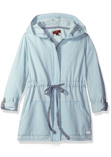 7 For All Mankind Girls' Big Hooded Chambray Jacket