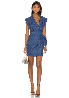 7 For All Mankind Blazer Dress With Ruffle