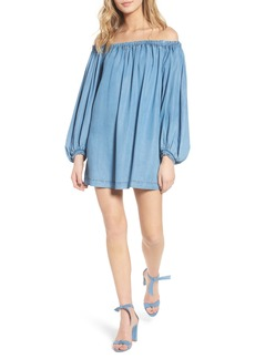 7 For All Mankind® Blouson Off the Shoulder Shift Dress
