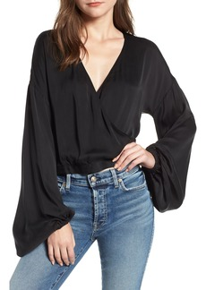 7 For All Mankind® Blouson Sleeve Wrap Top