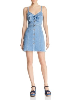 7 For All Mankind Bow-Detail Denim Dress