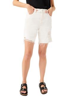 7 For All Mankind® Boyfriend Denim Shorts (Clean White)