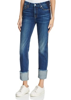 7 For All Mankind Boyfriend Jeans in Medium Shadow Blue