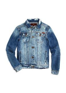 7 For All Mankind Boys' All Kinds Embroidered Denim Jacket - Big Kid