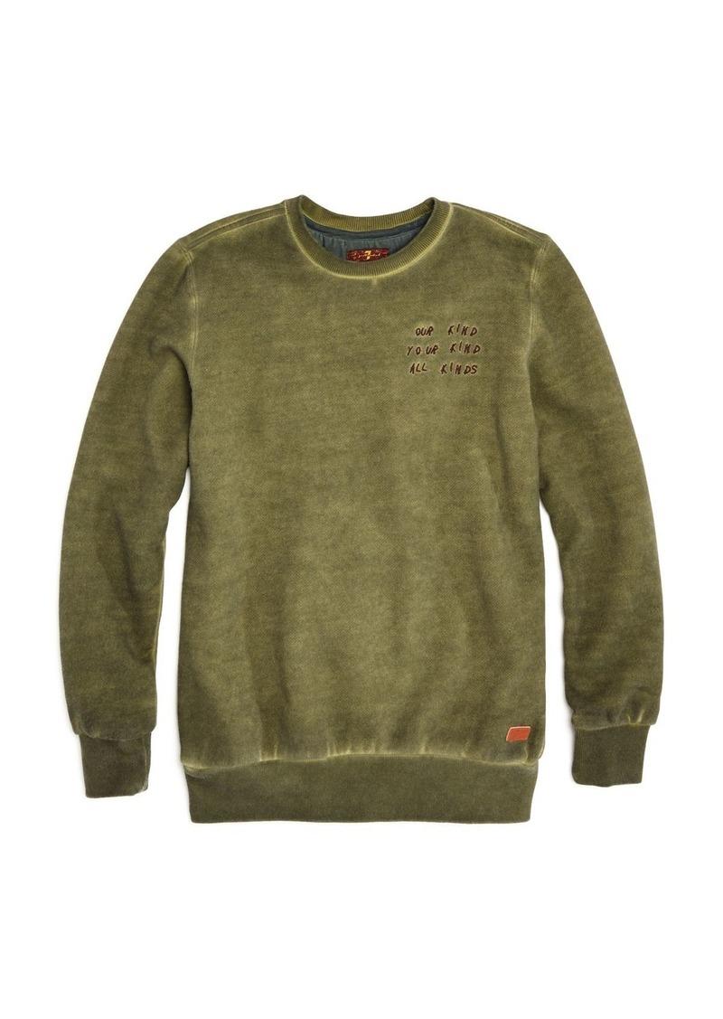 7 For All Mankind Boys' All Kinds Vintage-Wash Fleece Sweatshirt - Big Kid