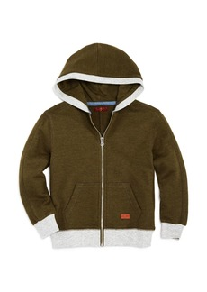 7 For All Mankind Boys' Contrast Zip-Up Hoodie - Big Kid