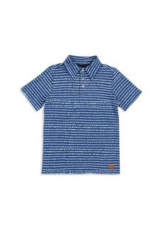 7 For All Mankind Boys' Dashed Stripe Print Polo - Little Kid, Big Kid