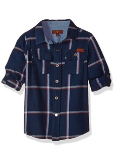 7 For All Mankind Boys' Little Long Sleeve Sport Shirt (More Styles Available)