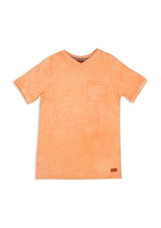 7 For All Mankind Boys' Mineral-Washed V-Neck Tee - Big Kid