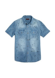 7 For All Mankind Boys' Paint-Splattered Denim Shirt - Big Kid