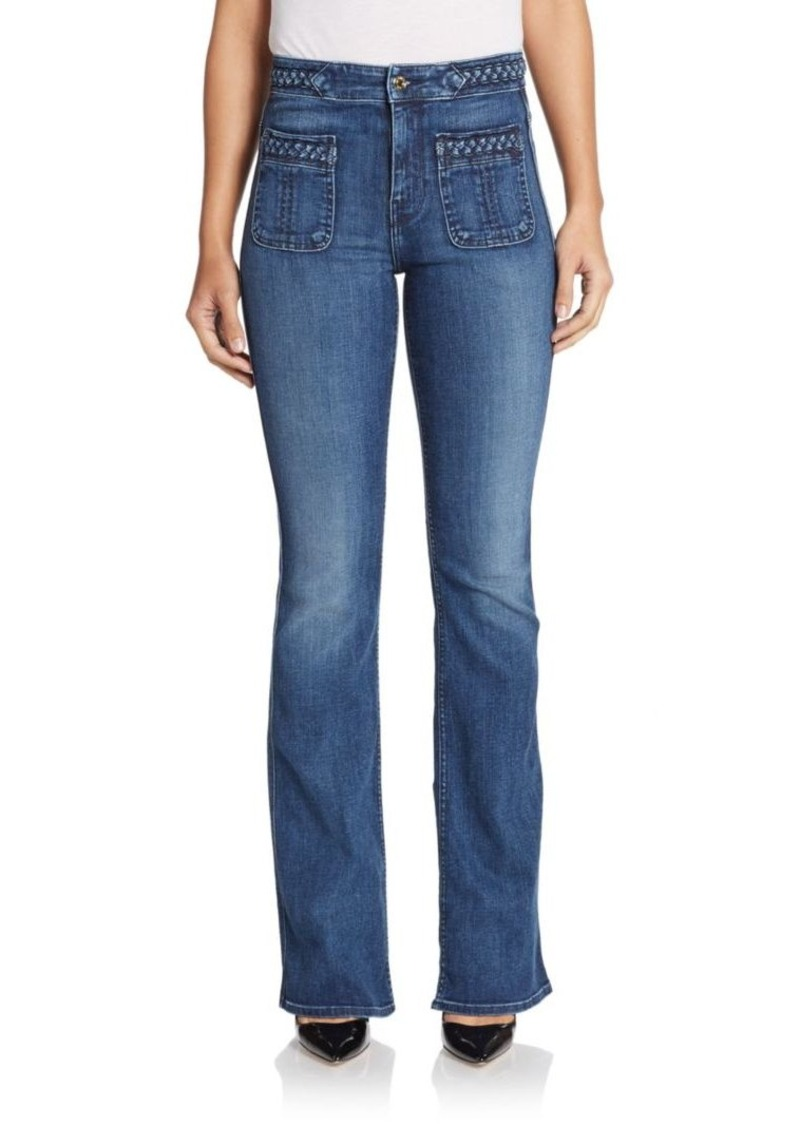 7 For All Mankind Braided Flared Jeans