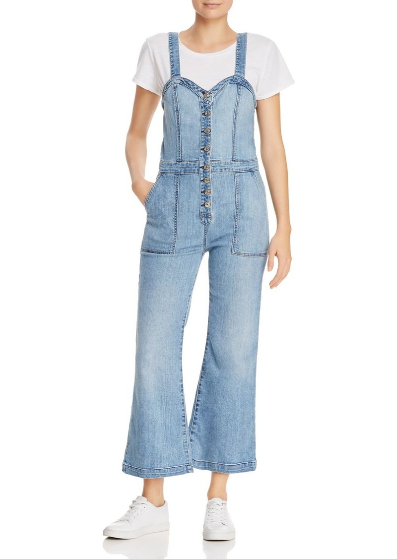 7 For All Mankind Bustier-Style Denim Jumpsuit in Whitney