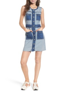 7 For All Mankind® Button Front Denim Dress