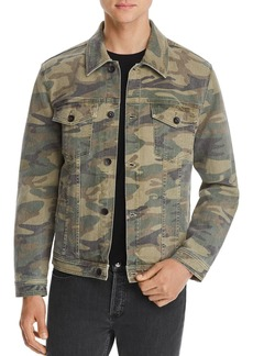 7 For All Mankind Camouflage-Print Trucker Jacket