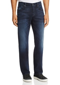 7 For All Mankind Carsen Dark Current Straight Fit Jeans in Dark Indigo