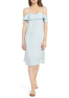 7 For All Mankind® Chambray Off the Shoulder Dress