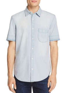 7 For All Mankind Chambray Regular Fit Button-Down Shirt