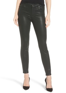 7 For All Mankind® Coated Ankle Skinny Jeans