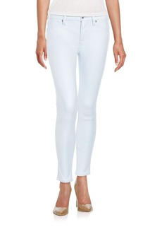 7 For All Mankind Coated Cropped Skinny Jeans