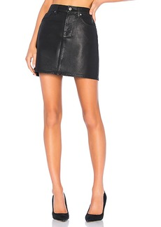 7 For All Mankind Coated Mini Skirt
