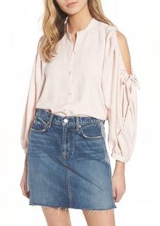 7 For All Mankind® Cold Shoulder Top