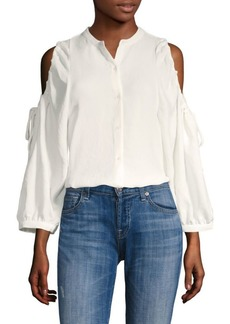 7 For All Mankind Cold Shoulder Top