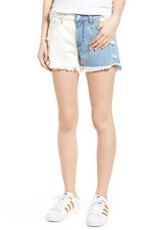 7 For All Mankind® Colorblock Cutoff Denim Shorts (Cloud Sky 2)