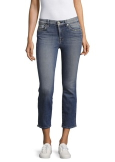 7 For All Mankind Straight Leg Ankle Jeans