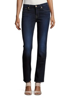 7 For All Mankind Cotton-Blend Faded Jeans