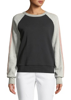 7 For All Mankind Crewneck Raglan Colorblocked Sweatshirt
