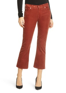 7 For All Mankind® Crop Bootcut Corduroy Pants (Whiskey)