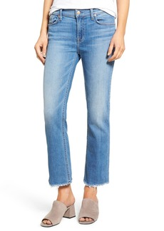 7 For All Mankind® Crop Bootcut Jeans (Adelaide Bright Blue 3)