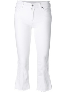 7 For All Mankind crop flare jeans - White