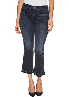 7 For All Mankind Cropped Boot Jeans w/ Front Released Pockets & Released Hem in Authentic Black 2