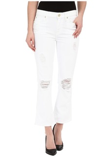 7 For All Mankind Cropped Boot w/ Destroy in Clean White 3