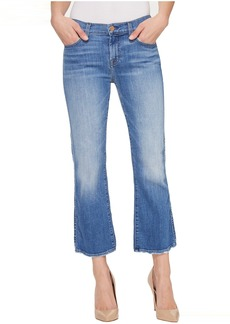 7 For All Mankind Cropped Boot w/ Grinded Hem in Adelaide Bright Blue