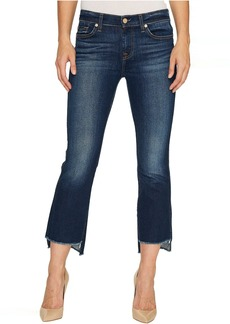 7 For All Mankind Cropped Boot w/ Step Hem in Dark Paradise