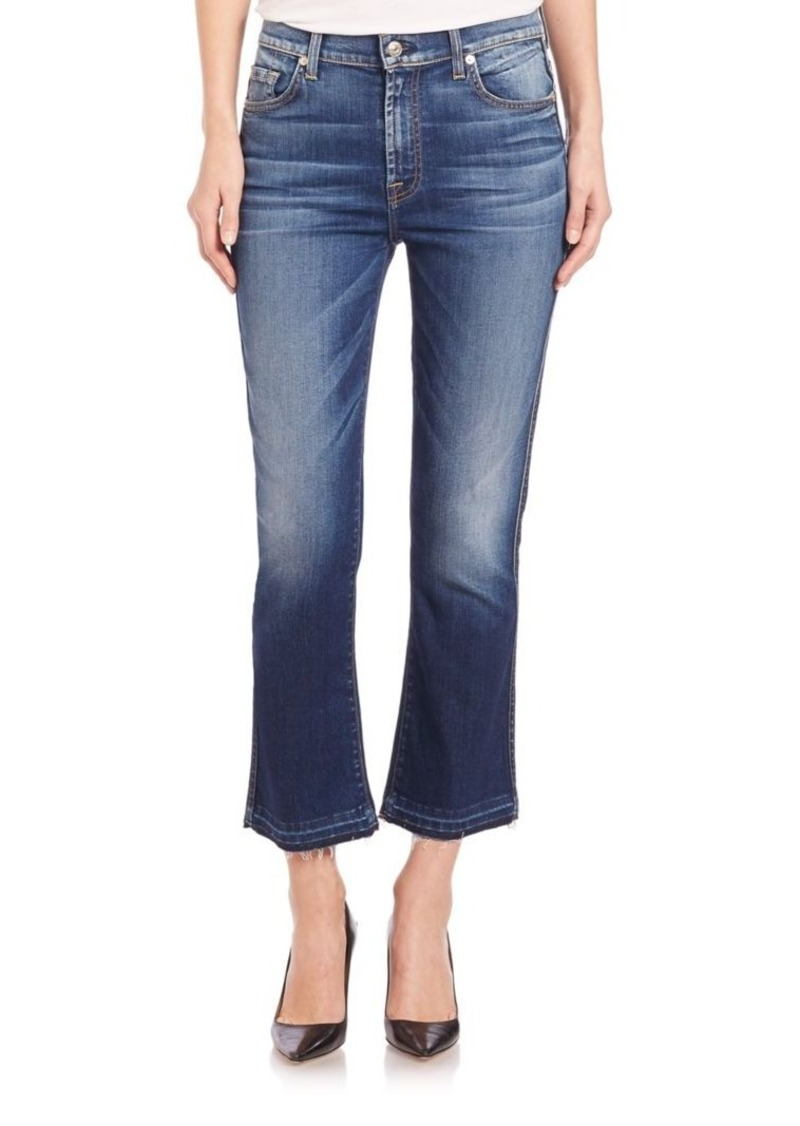 7 For All Mankind Cropped Boot Jeans With Released Hem